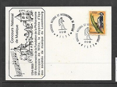 Luxembourg 1969 175th Anniversary of National Music Concours commemorative card