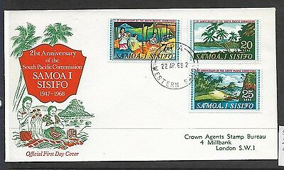 Samoa 1968 South Pacific Commission FDC