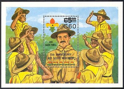 Ghana 1984 Scouts/Scouting/Baden Powell/People/Surch 1v m/s o/p (n41639)