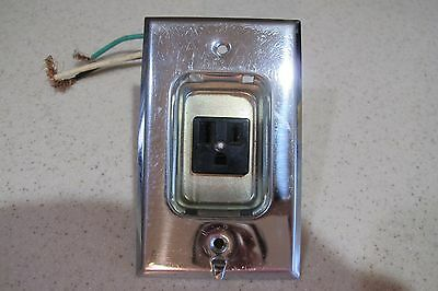 VINTAGE CLOCK HANGER OUTLET With CHROME PLATE