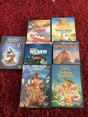 DVDs Finding Nemo Water ship Down Fantasia Cars And More