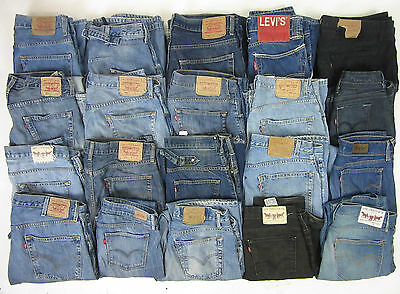 18 X Vintage Mens Womens Levi's Denim Jeans Grade C Joblot Wholesale Resale
