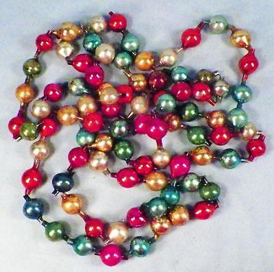 Christmas Tree Chain of Beads Mercury Glass Blue Green Red Antique 84in. #162