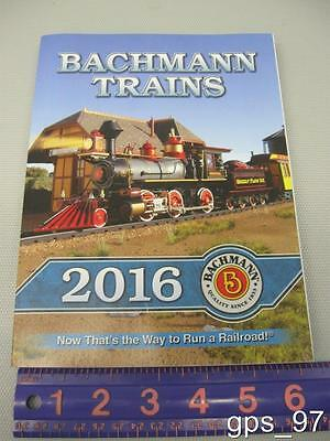 BACHMANN WILLIAMS 2016 TRAIN CATALOG N,HO,O,ON30,G Scale Trains - NEW
