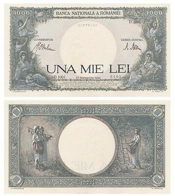 1.ooo - Una Mie - Lei  Romanian banknote issued in 10.09.1941 D aunc