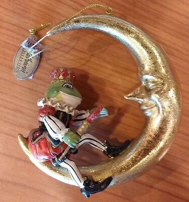 Katherine's Collection Frog of Diamonds & Crescent Moon Ornament - not