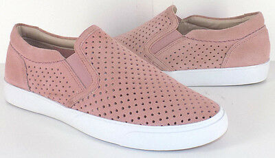 CLARKS Somerset Emme's Pink Suede Slip On Casual Shoes Women's US Shoe Size 7M