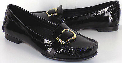 COLE HAAN Patent Black Leather Slip on Loafers Women's US Shoe Size 7.5B
