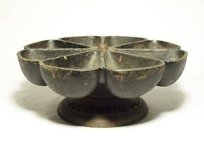 Antique Cast Iron Cobblers/Blacksmith STAR NAIL CUP Revolving Holder Stand 8-Cup