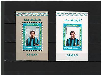 AJMAN, Stamps, SOCCER, Sports, Burgnich - MINT NH - PROOF