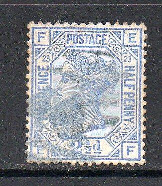 QV USED SG157 21/2d BLUE PLATE 23