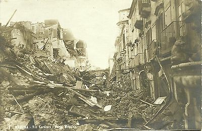 Cartolina 1908 Messina Terremoto Via Cardines Porta Messina