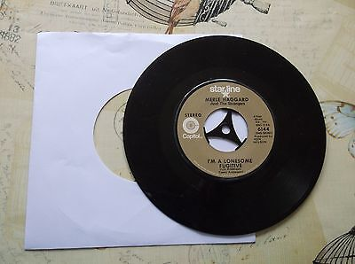 45rpm-Merle Haggard-I'm A Lonesome Fugitive-Starline-Country