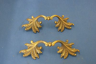 Vintage PAIR 1960-RDCA-French Provincial-Drawer Door Pulls Knobs Handles