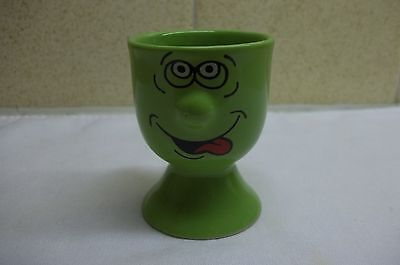 Egg Cup - green funny face
