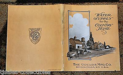 1912 Goulds Mfg Water Supply for the Country Home Vintage Advertising Booklet