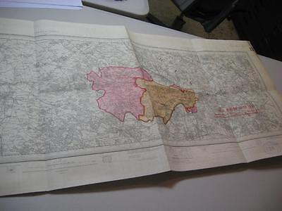 1913 Antique map Marlow High Wycombe Maidenhead Henley on Thames Wallingford