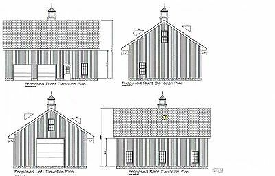 30 x 40 two bay fg ld rv garage building blueprint plans for 24x28 garage plans