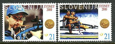 326 - SLOVENIA 2000 - Olympic Gold Medals for Slovenia - Sidney - MNH Set