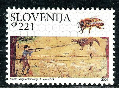 540 - SLOVENIA 2005 - Painted Beehive Panels - Bees - MNH Set