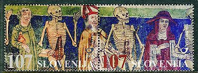 562 - SLOVENIA 2005 - Detail of the Dance of Death from Hrastovlje - MNH Set