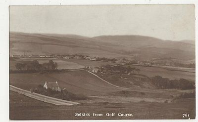Selkirk From Golf Course 1914 RP Postcard  169a