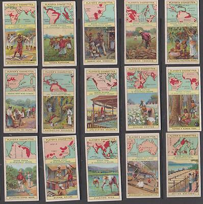 CIGARETTE CARDS Players 1909 Products of the World