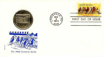 US FDC #1528 Horse Racing, Medallion (0684)