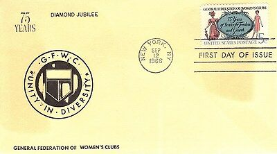 US FDC #1316 Women's Clubs, (19545)
