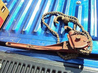 Vintage Antique Coffing Chain Hoist Come Along Chainfall