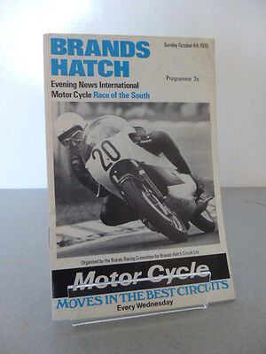 Brands Hatch Evening New Race of the South Road Race Programme 4th October 1970