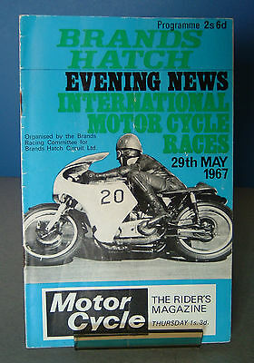 Brands Hatch Evening News Motor Cycle Road Race Meeting Programme 29th May 1967
