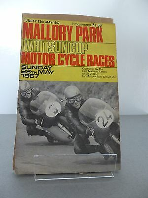 Mallory Park ACU Whitsun Cup Motor Cycle Race Programme 28th may 1967