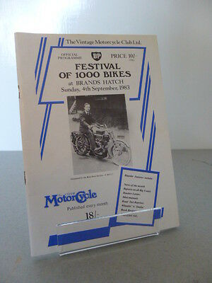 Brands Hatch Festival of 1000 Bikes Motor Cycle Programme 4th September 1983