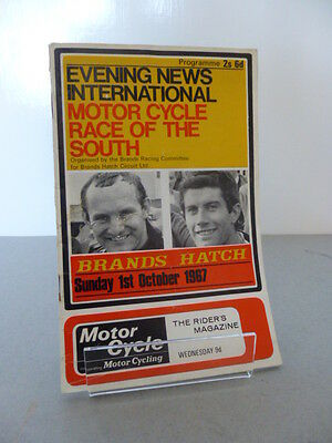 Brands Hatch Evening New Race of the South Road Race Programme 1st October 1967