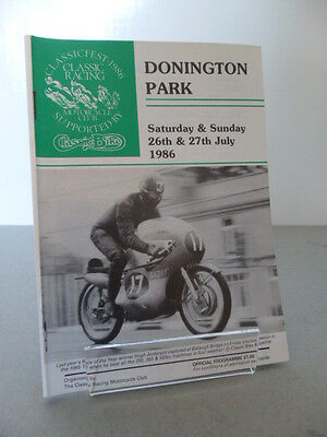 Donington Park Classic Racing Motorcycle Club Race Programme 26th July 1986