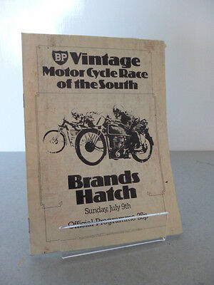 Brands Hatch BP Vintage Race of the South Road Race Programme 9th July 1978