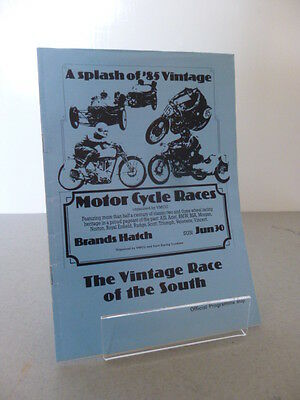 Brands Hatch Vintage Race of the South Road Race Programme 30th June 1985