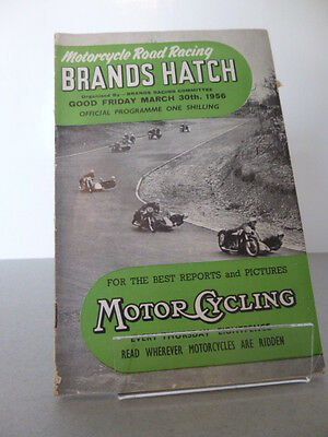 Brands Hatch Good Friday Motor Racing Cycle Road Race Programme 30th March 1956