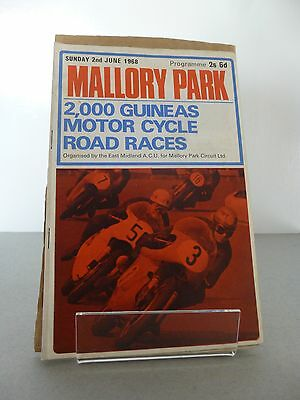 Mallory Park 2000 Guineas Motor Cycle Race Programme 2nd June 1968