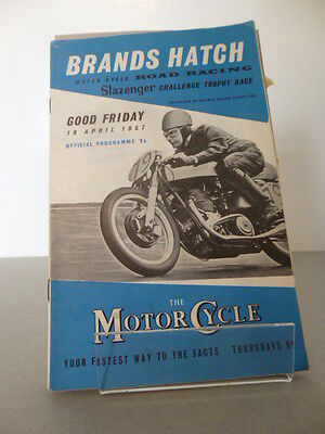 Brands Hatch Good Friday Motor Racing Cycle Road Race Programme 19th April 1957
