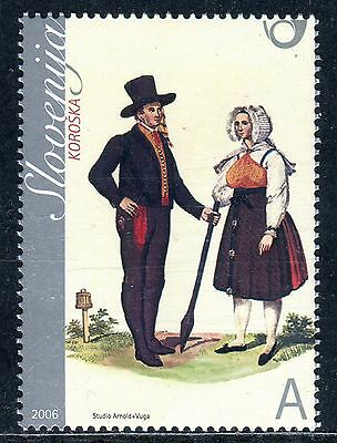 571 - SLOVENIA 2006 - National Costumes  from Carinthia - MNH Set