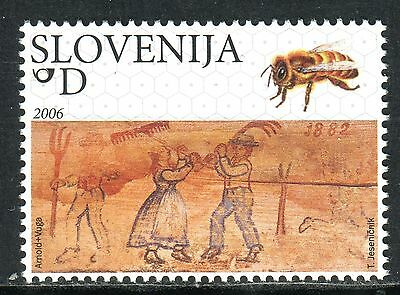 589 - SLOVENIA 2006 - Painted Beehive Panels - Bee - MNH Set