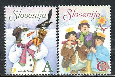 601 - SLOVENIA 2006 - Christmas - New Year - Definitive Stamps - MNH Set