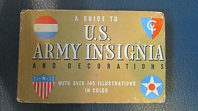 Rare 1941  WW2  US  Army INSIGNIA and DECORATIONS Booklet !!