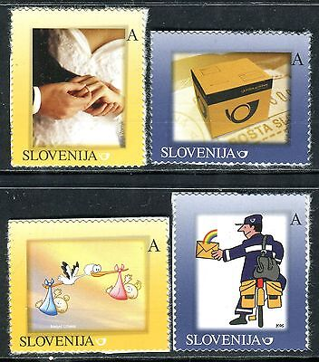 630 - SLOVENIA 2007 - Personal Stamps - Postman - MNH Set - Michel 630-633