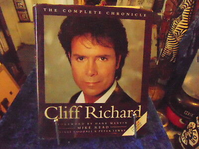 The Complete Chronicle 'Cliff Richard' Book Heavy Hard Back Foreword by Hank Mar