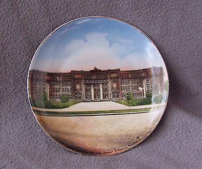 Old Emporia KS Normal School Souvenir China Plate Full Plate Image