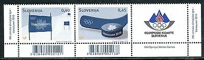 833 - SLOVENIA 2010 - Winter Olympic Games Vancouver - MNH Set + Label
