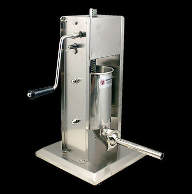 New MTN  Commercial Restaurant Sausage Stuffer - 15Lbs Stainless Steel